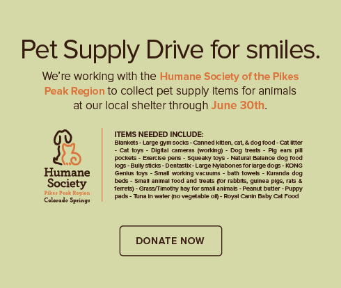 North Powers Modern Dentistry - Humane Society of the Pikes Peak Region Pet Drive